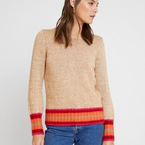 NWT GAP Camel Pink Red Crew Neck Sweater
